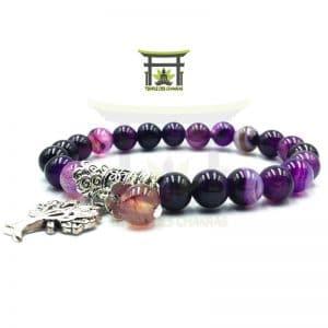 Bracelet Arbre de Vie en Agate Violette
