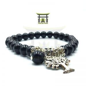 Bracelet Arbre de Vie en Onyx Noir