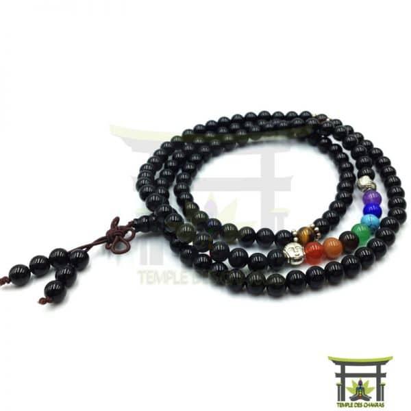 Bracelet-Mala-7-Chakras-de-Guérison--en-Onyx-2