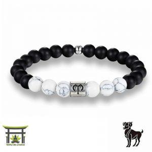 Bracelet Signe du Zodiac en Howlite