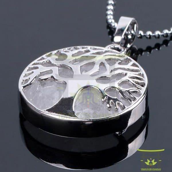 Pendentif-pierre-de-guérison-Arbre-de-vie-Cristal-Blanc-1