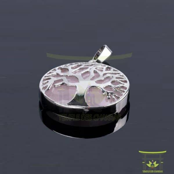 Pendentif-pierre-de-guérison-Arbre-de-vie-Quartz-Rose-1