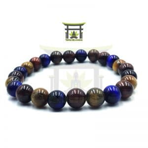 Bracelet de Protection en Œil de Tigre Multi Couleurs