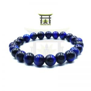 Bracelet de Protection en Œil de Tigre Bleu