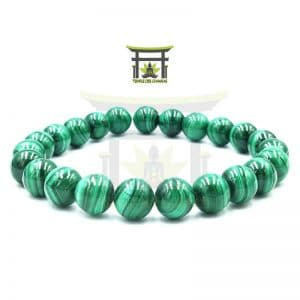 Bracelet Power en Malachite en 8 mm