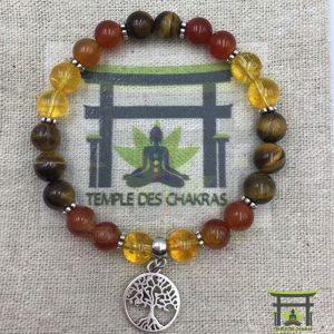 Bracelet personnalisé en perles naturelles de 8mm