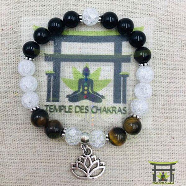 bracelet-personnalise-oeil-de-tigre-obsidienne-noire-ctristal-de-roche-fleur-de-lotus