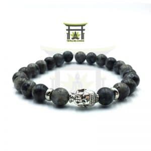 Bracelet Tête de Bouddha en Larvikite