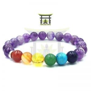 Bracelet 7 Chakras En Améthyste