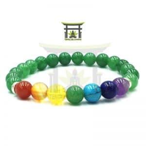 Bracelet 7 Chakras En Aventurine Verte