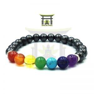 Bracelet 7 Chakras En Hématite