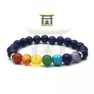 Bracelet 7 Chakras En Lapis Lazuli