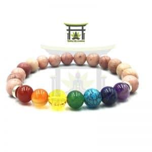 Bracelet 7 Chakras En Rhodochrosite