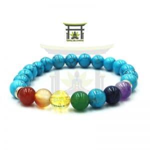 Bracelet 7 Chakras en Turquoise