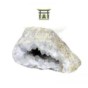 Géode de quartz blanc