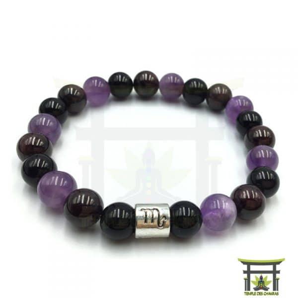 bracelet-astro-scorpion-grenat-amethyste-obsidienne-noire-2