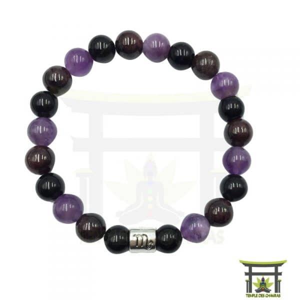 bracelet-astro-scorpion-grenat-amethyste-obsidienne-noire-3