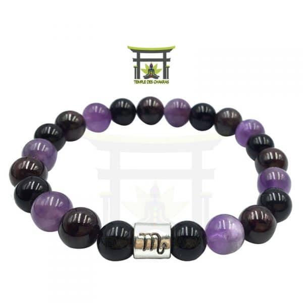 bracelet-astro-scorpion-grenat-amethyste-obsidienne-noire