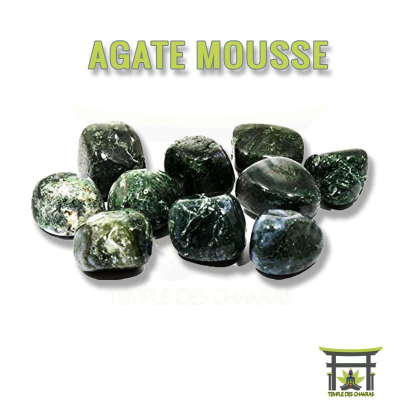 Pierre naturelle Agate Mousse