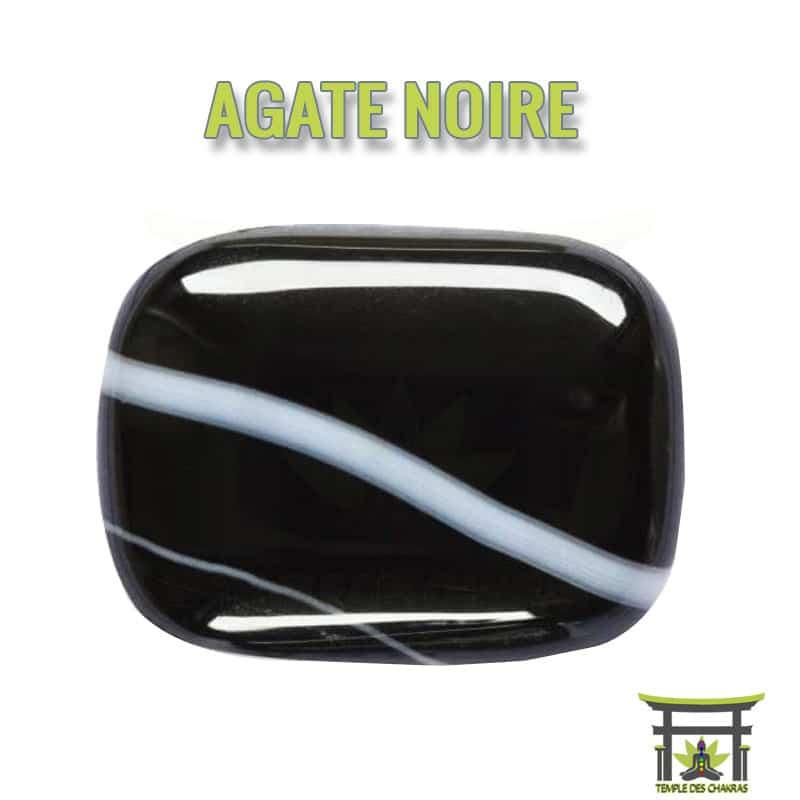 Pierre naturelle Agate Noire