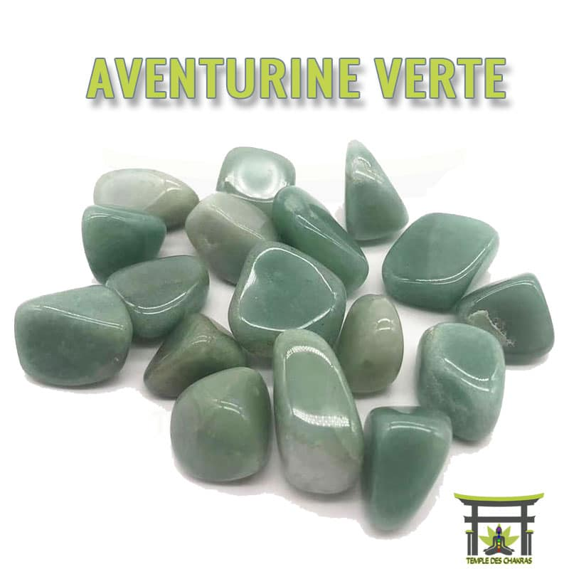 Pierre naturelle Aventurine Verte
