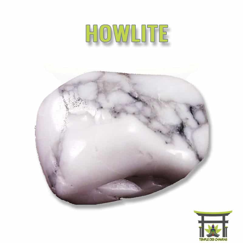 Pierre naturelle Howlite blanche