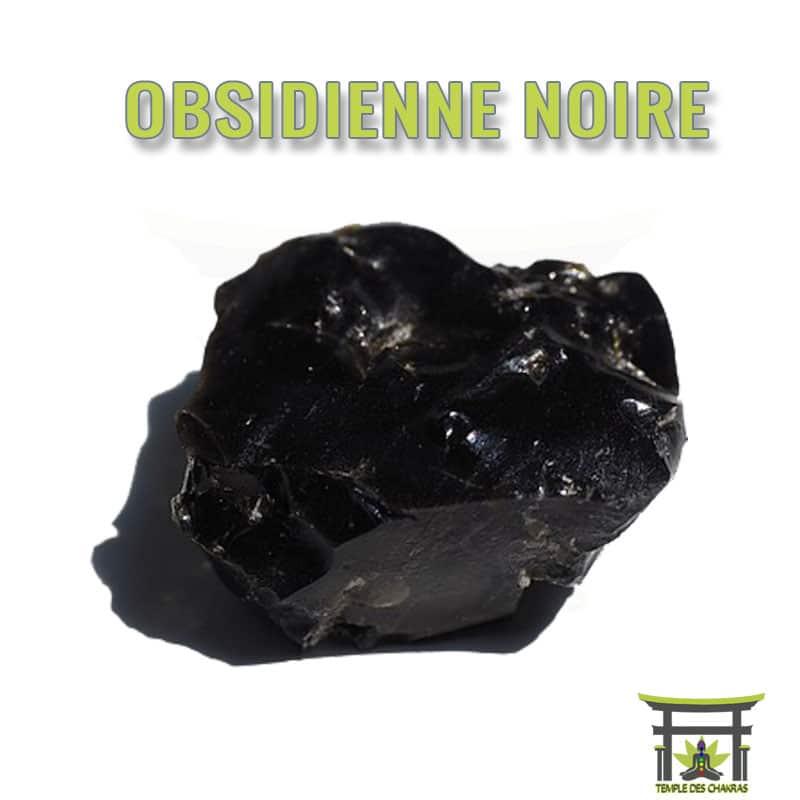 Pierre naturelle Obsidienne Noire