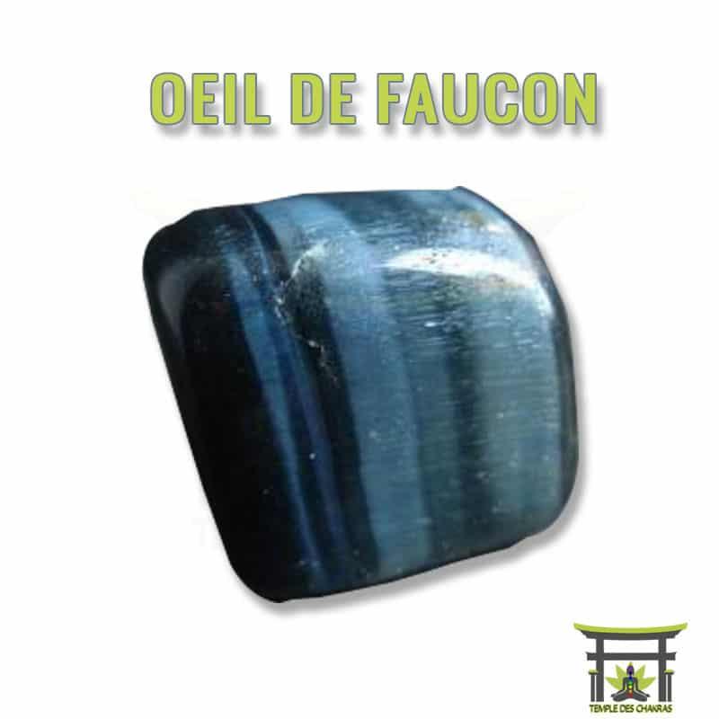 Pierre naturelle Œil de Faucon ou dit Œil de Tigre Bleu