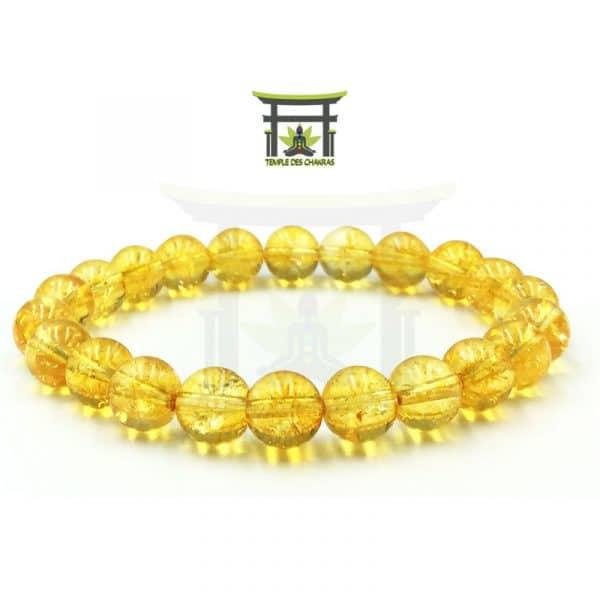 bracelet en pierre de citrine