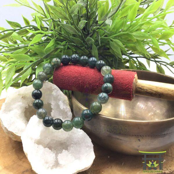 Bracelet en Agate Mousse Naturelle